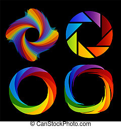 set of rainbow colored photography - A set of rainbow ...