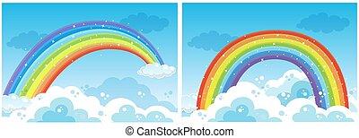 A Set of Rainbow on Sky