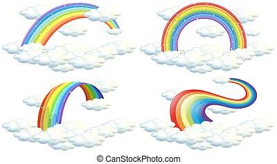 A Set of Rainbow on White Background