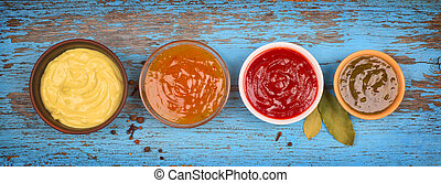 a set of sauces
