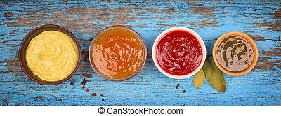 a set of sauces