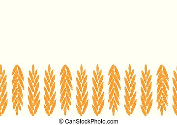 A set of seeds of wheat, barley, rye ears. Vector illustration on white background.