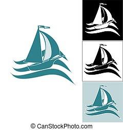 A set of ship logos