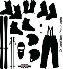 a set of skis - Vector illustration