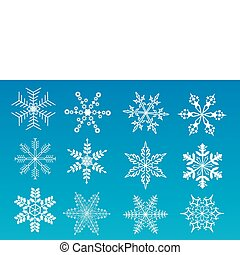 a set of snowflakes