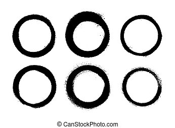 A set of stains made by the spray. Vector illustration. Highly detailed template for background or design.