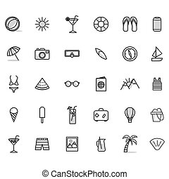 A set of summer icons