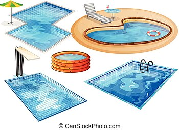 A set of swimming pool
