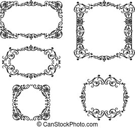 A set of the ancient decorative frames