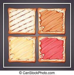 A set of toast