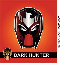 a set of two mask. superhero. racer