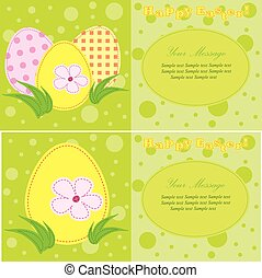 A set of vector easter cards