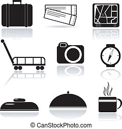 A set of vector icons