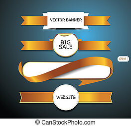 vector promo white paper banners
