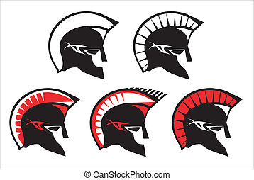 a set of warrior heads - various warrior heads, you can...