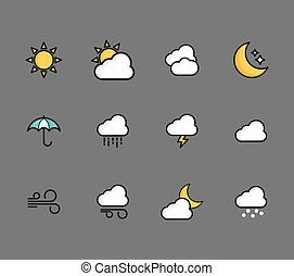 A set of weather icons
