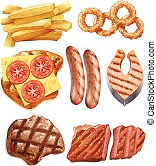 Western food Vector Clip Art Illustrations. 894 Western ...
