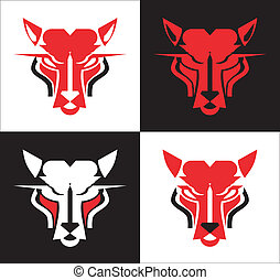 a set of Wild Tiger Head - Wild Cat - suitable for team...