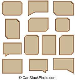 A set of wooden frames, vector