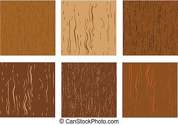 A set of wooden texture