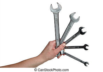 A set of wrenches