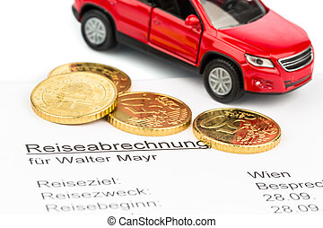 travel expenses - a settlement of travel expenses with car ...