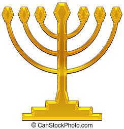 candelabrum - A seven-branched candelabrum