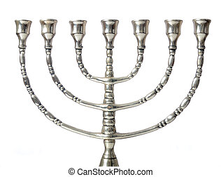 Menorah - A seven branched Judaic Menorah, a fixture in most...