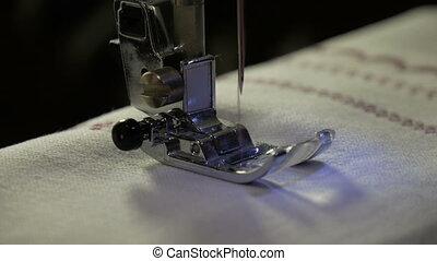A sewing machine, sew the fabric HD