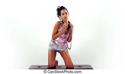 a sexy gogo dancer shot in a studio
