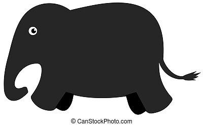 a shadow elephant
