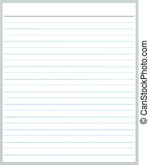 A Sheet of Blank Gey Lined on White Paper Background with Copy Space for Text Decorated