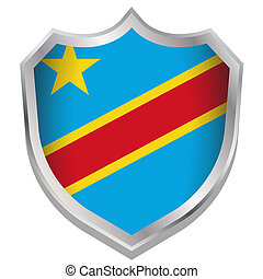 Shield Illustration with the flag for the country of ...