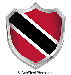 Shield Illustration with the flag for the country of Trinidad and Tobago