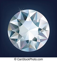 A Shiny bright diamond. Vector illustration