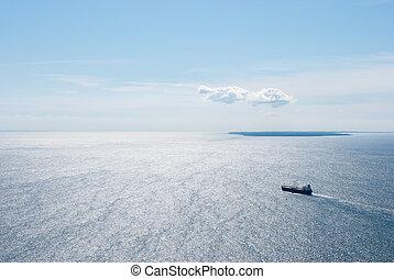 A ship on the Baltic Sea