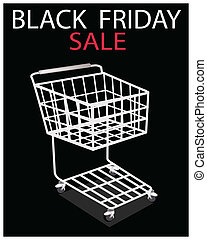 A Shopping Cart on Black Friday Promotion
