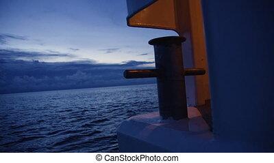 A shot of a dock's anchor - A medium shot of a dock's anchor