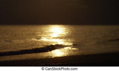 A shot of a golden wave