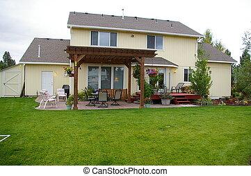 backyard - a shot of a nice backyard with pergula
