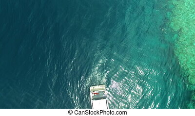 A shot of a yacht's back