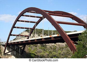 Austin 360 Bridge - A shot of the Austin 360 Bridge on a ...