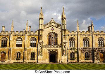 Corpus Christi College at Cambridge University - A shot of...