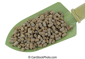 Animal-based Fertilizer Pellets - A shovel full of...