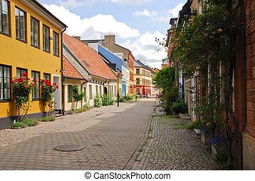 A side street in Malmo, Sweden