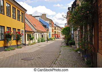 A side street in Malmo,Sweden