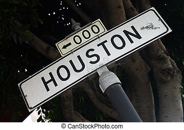 Houston - A sign of Houston street in San Francisco center