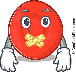 a silent gesture of erythrocyte cell mascot cartoon ...