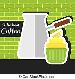 A silver metal jar of coffee with a