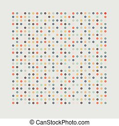 A simple background. Grey background with colored dots.